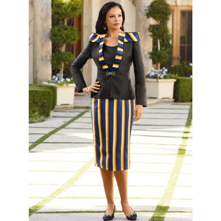 Stripes of Ashanti 3-Pc. Suit by Tally Taylor