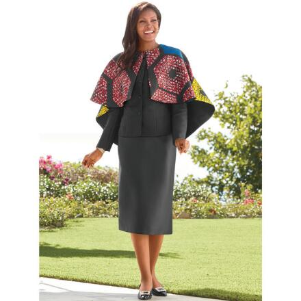 Ashiki 3-Pc. Cape Suit by Tally Taylor