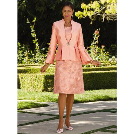 Pleats 'n' Petals Jacket Dress by Tally Taylor