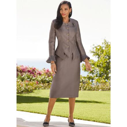 Asymmetric Flair Suit by Tally Taylor