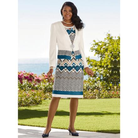 Precious Patterns Jacket Dress by EY Signature