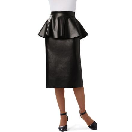 Edge of Style Faux-Leather Skirt by Studio EY