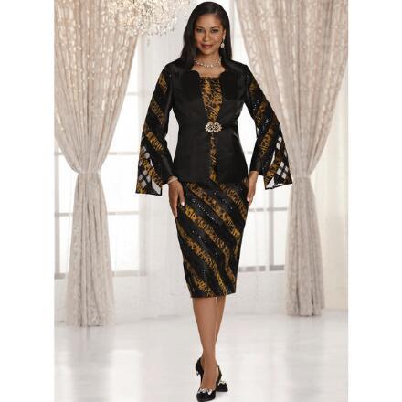 Elegance of Leopard 3-Pc. Suit by EY Boutique