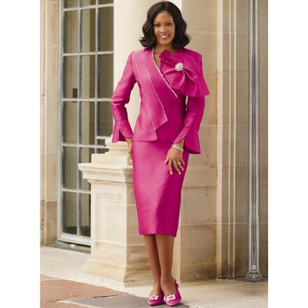 Tiers of Distinction Suit by Lisa Rene