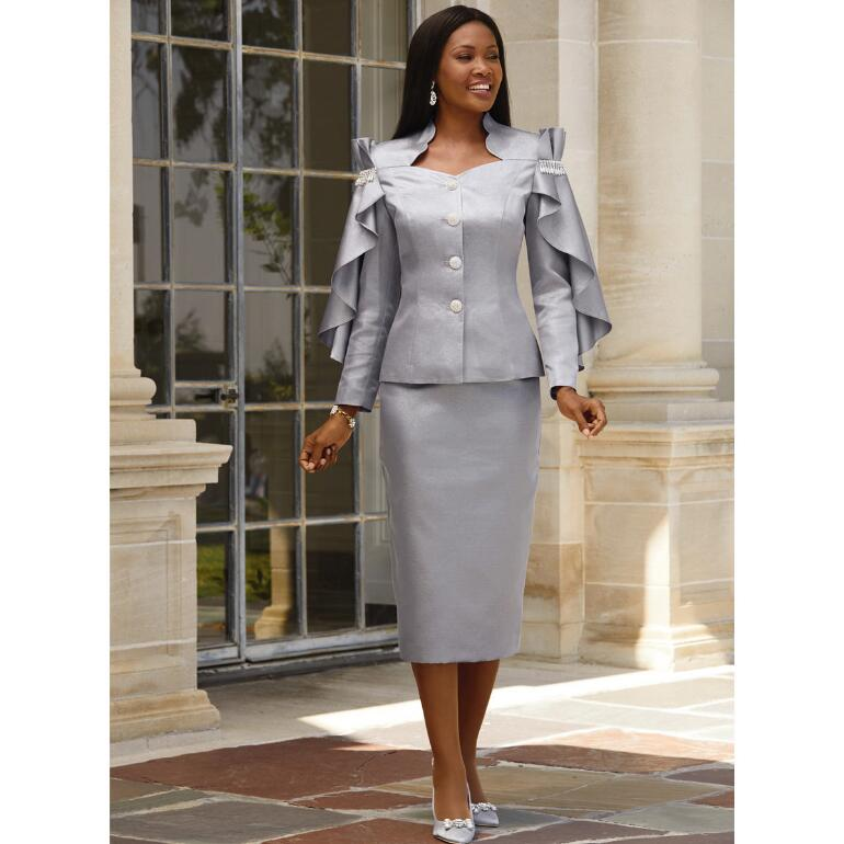 Cascade Shoulders Suit by Tally Taylor