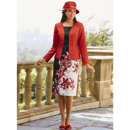Elegance of Lilies Jacket Dress by EY Signature