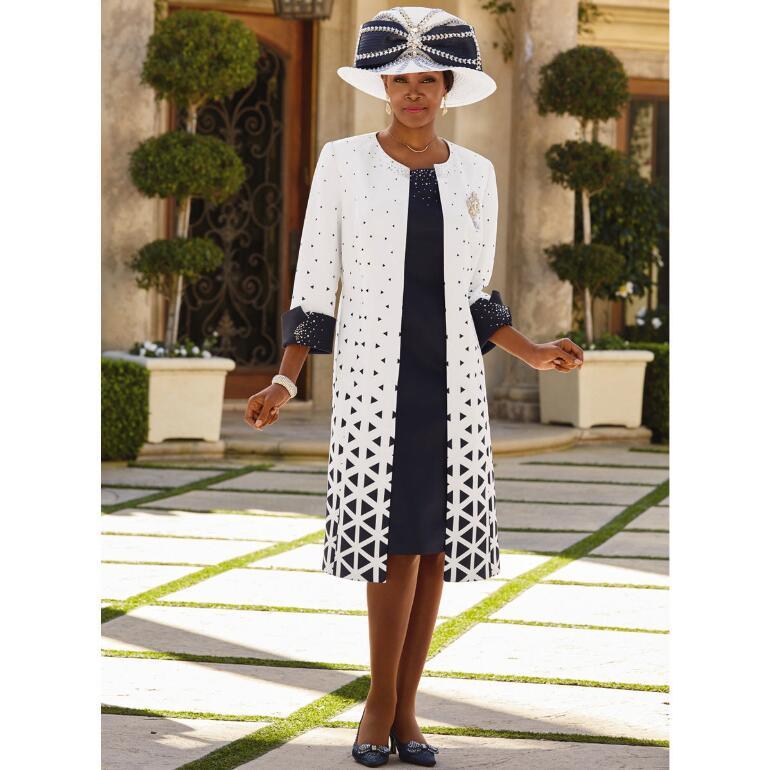 Trellis of Elegance Jacket Dress by Lisa Rene Black Label