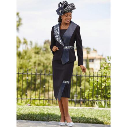 Sweep of Shine Suit by Lisa Rene Black Label
