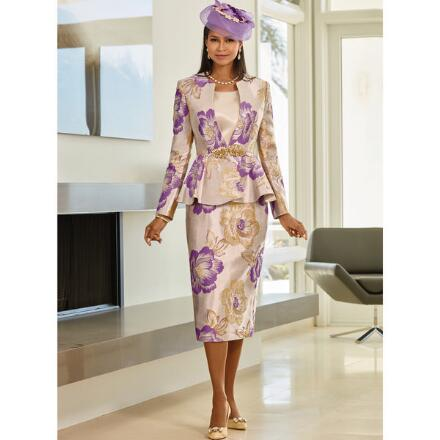 Bold Blossom 3-Pc. Suit by LUXE