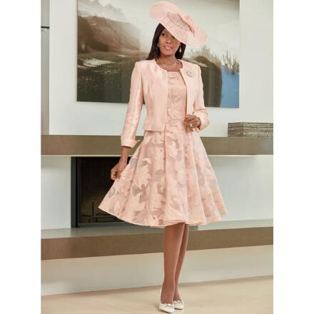 Precious Petals Jacket Dress by LUXE