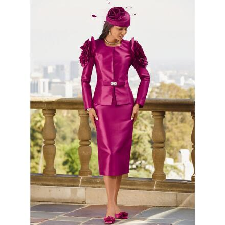 Ruffled Roses Suit by Lisa Rene