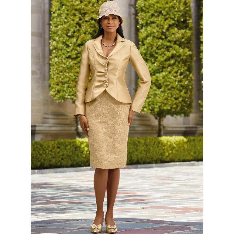 Pleated Detail Suit by EY Boutique