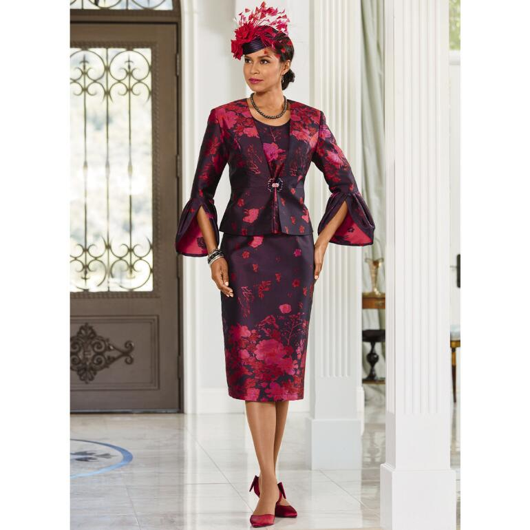 Luxury in Bloom Jacquard 3-Pc. Suit by LUXE