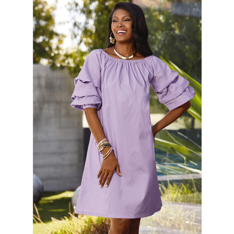 Over the Top Puff-Sleeve Dress by Studio EY