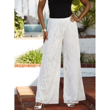 Crochet Wide-Leg Pant by Studio EY