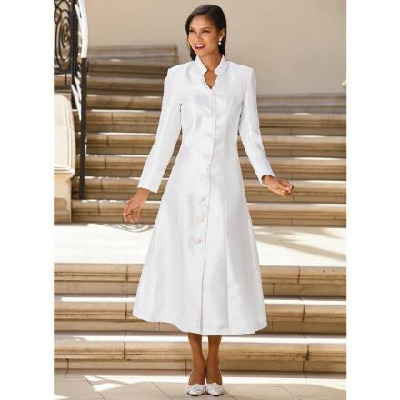 Embellished-Trim Choir Robe by GMI