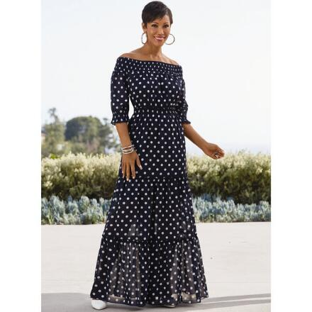 Got Dots Tiered Maxi Dress by EY Studio