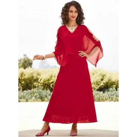 Ruffled Split-Sleeve Maxi Dress by Studio EY