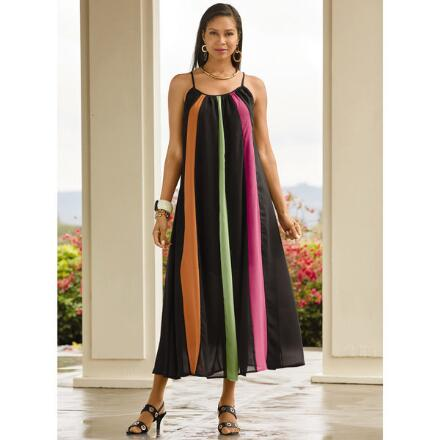 Black 'n' Bright Striped Dress by Studio EY