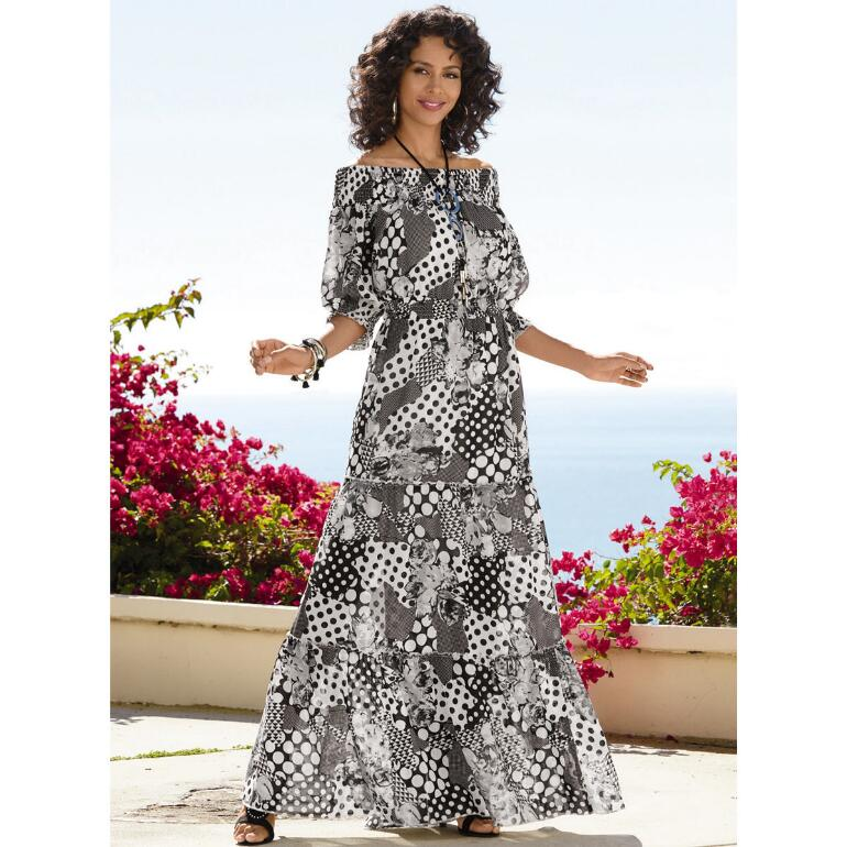 Patchwork in Contrast Maxi Dress by Studio EY