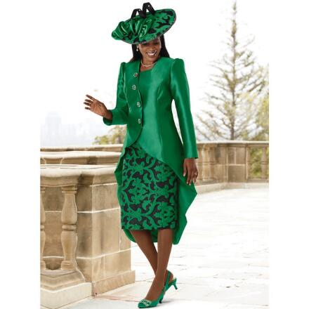 Truly Tulip-Silhouetted Suit by EY Boutique