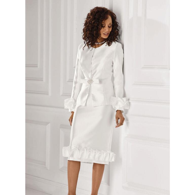 Just Enough Ruffles Suit by EY Boutique