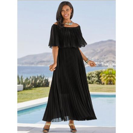 Mini-Pleated Maxi Dress by Studio EY