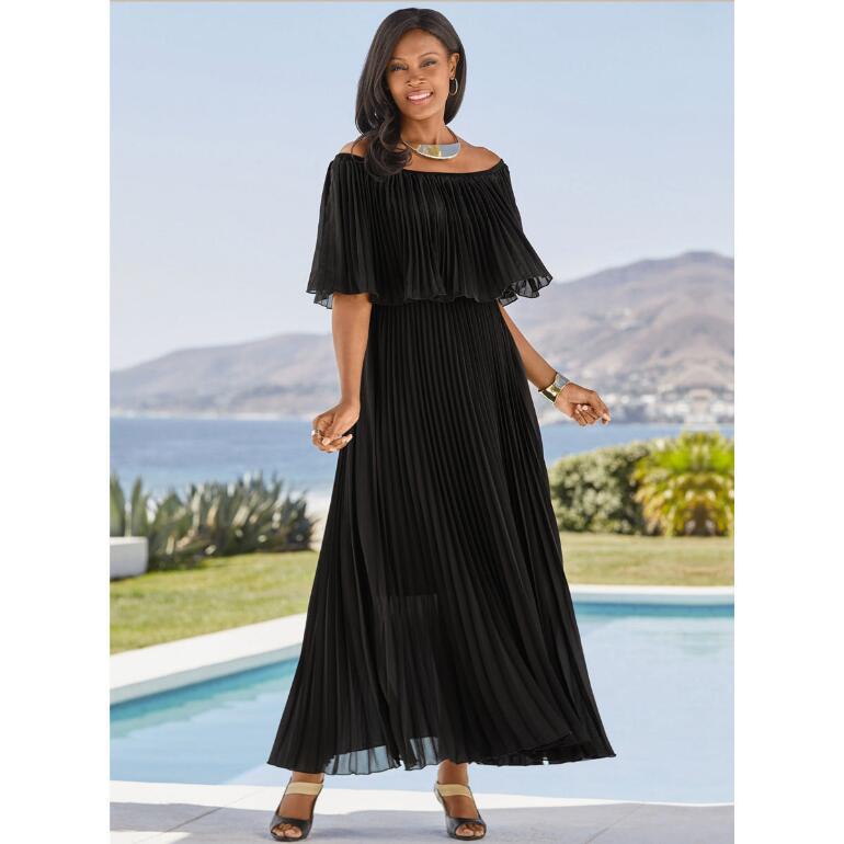 Mini-Pleated Maxi Dress by Studio EY