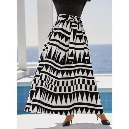Geo-Tribal Maxi Skirt by Studio EY