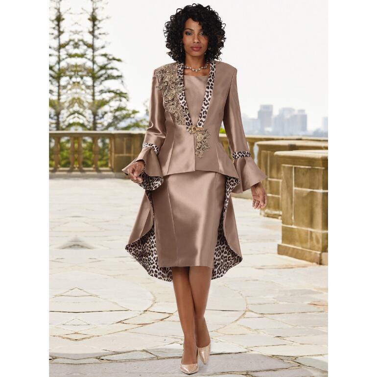 Fierce 'n' Floral Appliqué Jacket Dress by EY Boutique