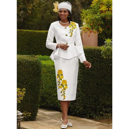Embroidered Blooms Suit by EY Boutique