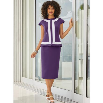Lines and Curves Skirt Set by Studio EY