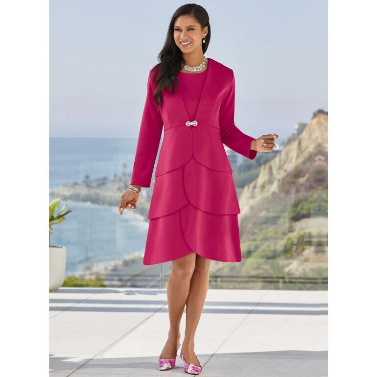 Simply Elegant Tiered Jacket Dress by Studio EY
