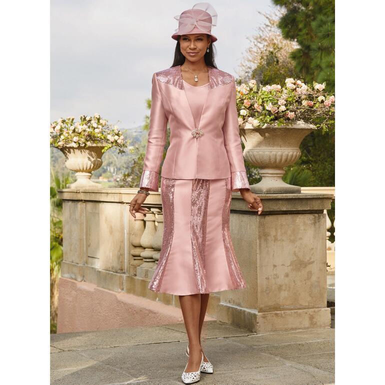 Dazzling Sequin Shine 3-Pc. Suit by EY Boutique