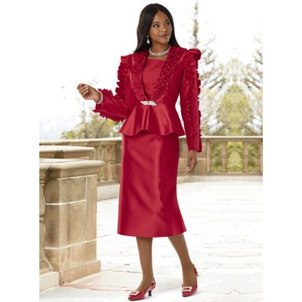 Richly Ruffled Suit by Lisa Rene