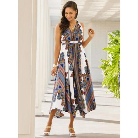 Scarf-Print Dress by Studio EY