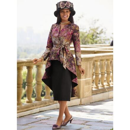 Dream Garden Jacquard Suit by EY Boutique