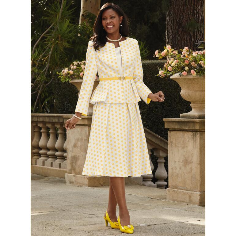 Richly Dotted 3-Pc. Suit by Giovanna Collection