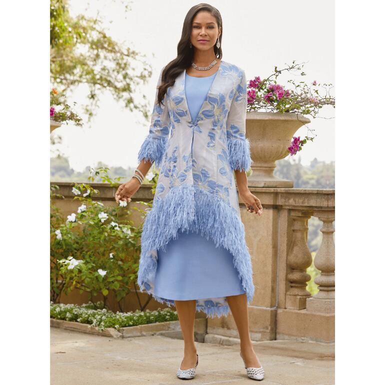 Unique Boutique Jacquard Jacket Dress by Dorinda Clark-Cole