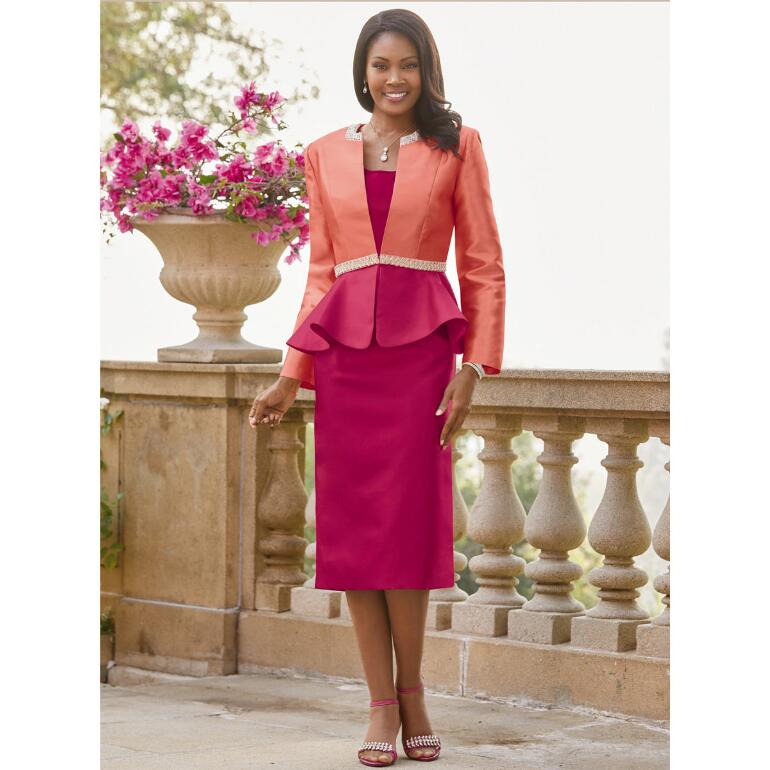 Chic Shades of Peplum 3-Pc. Suit by EY Boutique