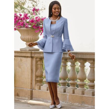 Elegant Openwork 3-Pc. Suit EY Boutique