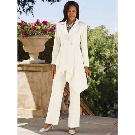 Asymmetrical Drape Pantsuit by EY Boutique