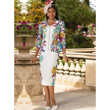 Floral and Fantasy 3-Pc. Suit by EY Boutique