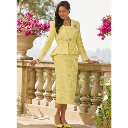 Brocade in Bloom 3-Pc. Suit by EY Boutique