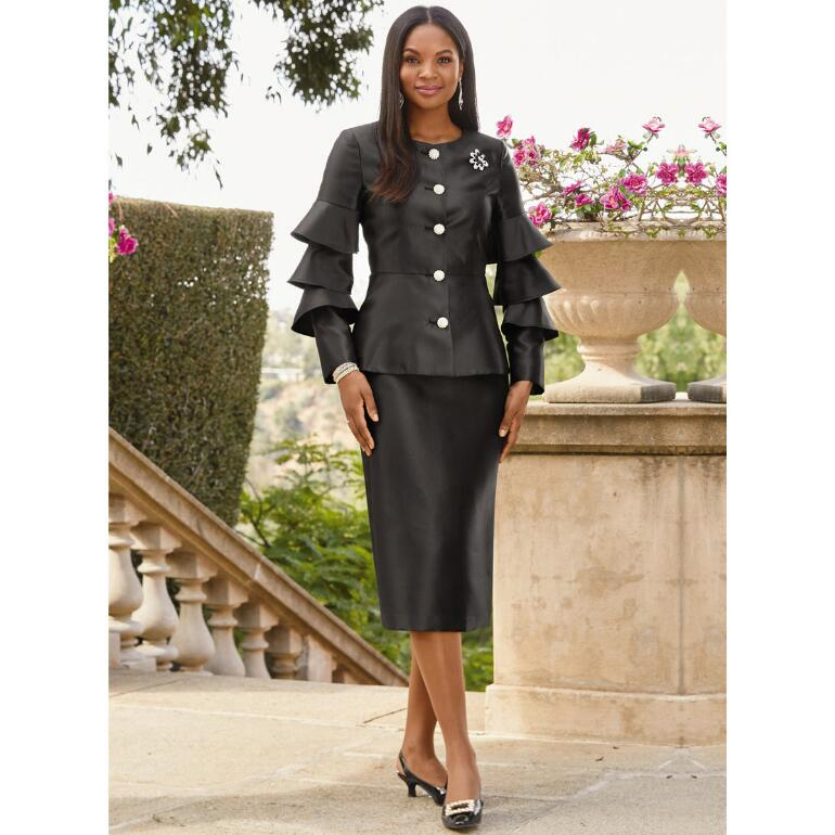 Triple-Tiered Sleeve Suit by EY Signature