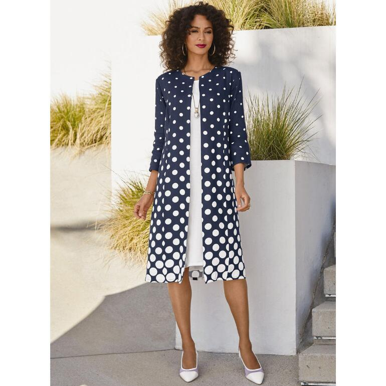 Dozens of Dots Linen Duster Dress by EY Signature