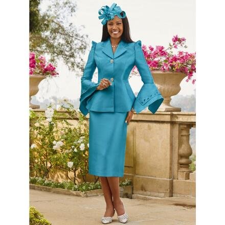 Points and Angles Suit by EY Boutique