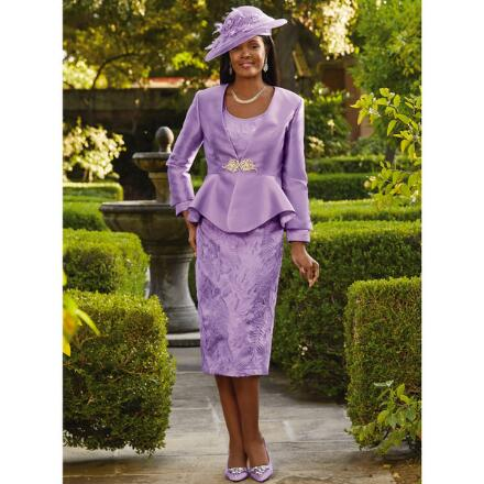 Intricacy of Embroidery 3-Pc. Suit by Dorinda Clark-Cole