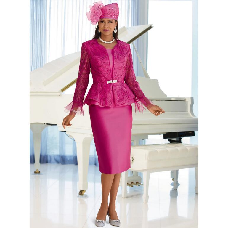 Ever Beautiful Jacquard Overlay Suit by LUXE