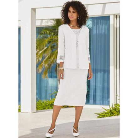 Lovin' Lace and Linen 3-Pc. Skirt Set by EY Signature